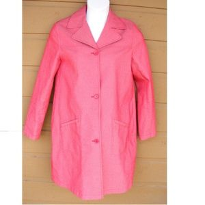 OLD NAVY Maternity Coat, M, Trench Rosey, Pockets